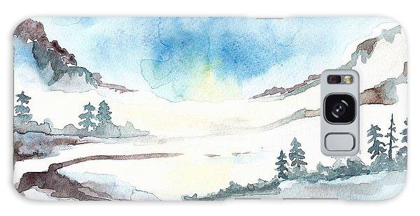 Children's Book Illustration Of Mountains Galaxy Case