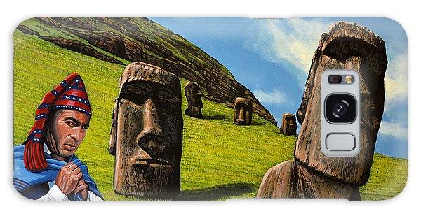 Scenery Galaxy Case - Chile Easter Island by Paul Meijering