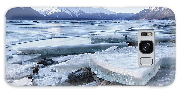 Chilkat River Ice Chunks Galaxy Case