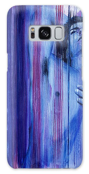 Galaxy Case featuring the painting Chill by Rene Capone