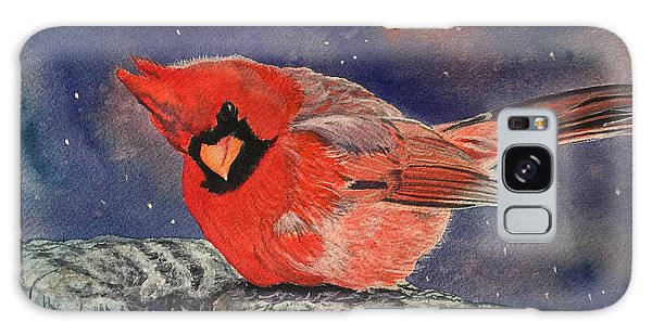 Chilly Bird Christmas Card Galaxy Case