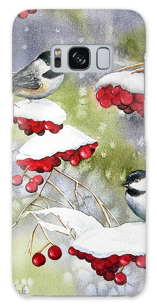 Chilly Chickadees Galaxy Case
