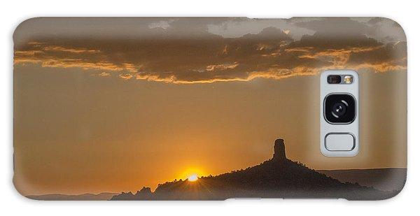 Chimney Rock Sunset Galaxy Case by Laura Pratt