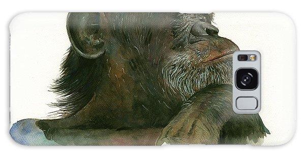 Chimpanzee Galaxy S8 Case - Chimp Portrait by Juan Bosco