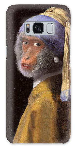 Girl With A Pearl Earring Galaxy Case - Chimp With A Pearl Earring by Gravityx9  Designs