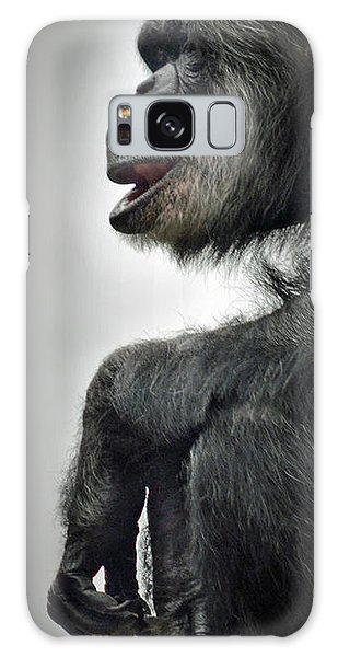 Chimpanzee Profile Vignetee Effect Galaxy Case