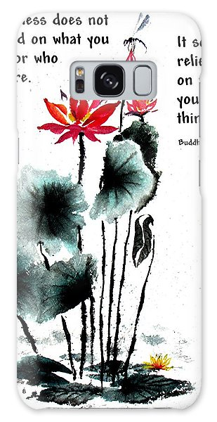 China Garden With Buddha Quote Galaxy Case