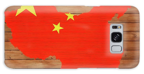 People's Republic Of China Galaxy Case - China Rustic Map On Wood by Dan Sproul