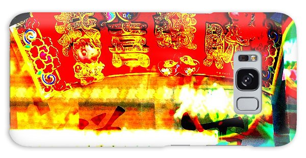 Galaxy Case featuring the photograph Chinatown Window Reflection 4 by Marianne Dow