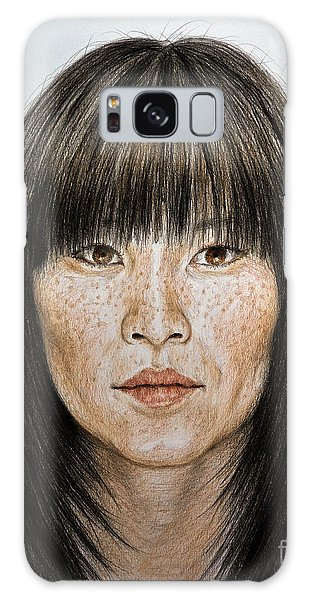 Hyper-realistic Galaxy Case - Chinese Beauty With Bangs by jim Fitzpatrick