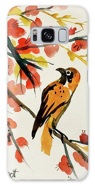 Chinese Bird With Blossoms Galaxy Case