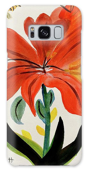 Chinese Brush Work Bee And Flower Galaxy Case