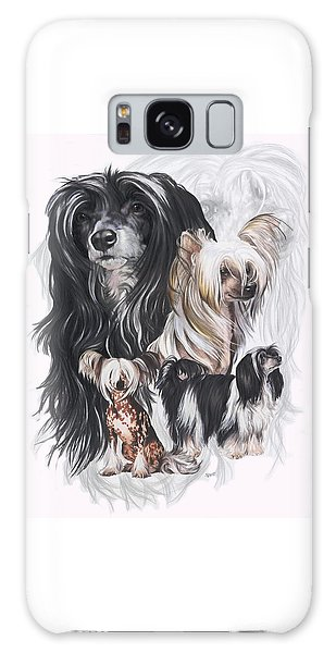 Chinese Crested And Powderpuff Medley Galaxy Case