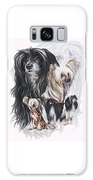 Chinese Crested And Powderpuff W/ghost Galaxy Case by Barbara Keith