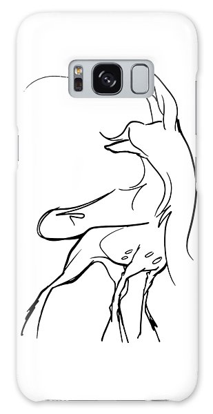 Chinese Crested Gesture Sketch Galaxy Case