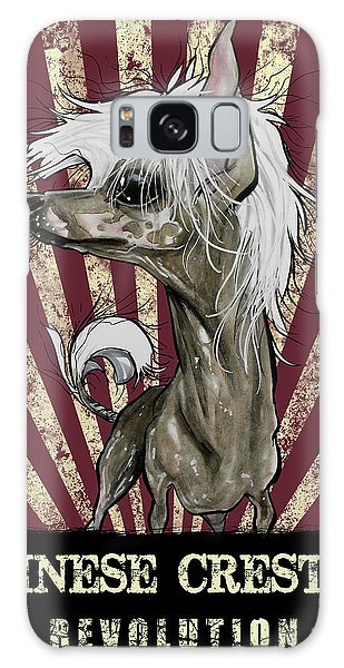 Chinese Crested Revolution Galaxy Case