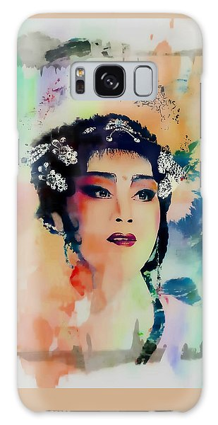 Chinese Cultural Girl - Digital Watercolor  Galaxy Case