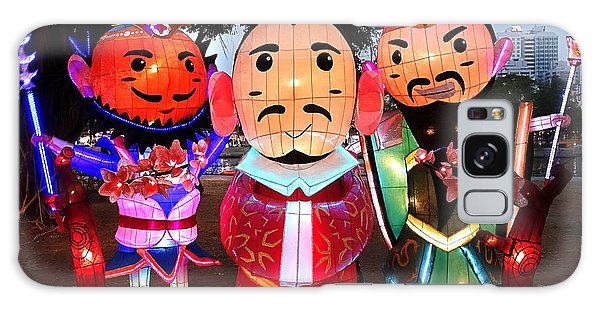 Chinese Lanterns In The Shape Of Three Wise Men Galaxy Case by Yali Shi