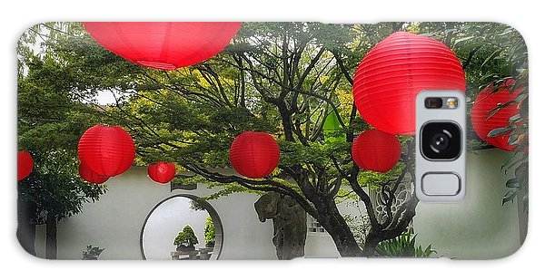 Chinese Tea Garden In Portland, Oregon Galaxy Case