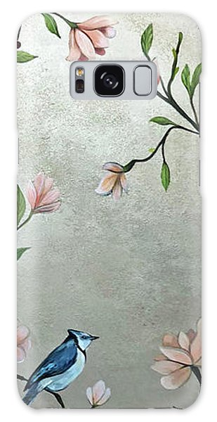 Peacocks Galaxy Case - Chinoiserie - Magnolias And Birds by Shadia Derbyshire
