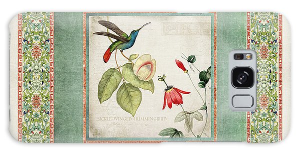 Patina Galaxy Case - Chinoiserie Vintage Hummingbirds N Flowers 2 by Audrey Jeanne Roberts