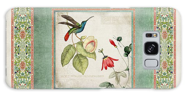 Chinoiserie Vintage Hummingbirds N Flowers 2 Galaxy Case by Audrey Jeanne Roberts
