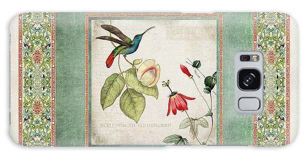 Chinoiserie Vintage Hummingbirds N Flowers 2 Galaxy Case
