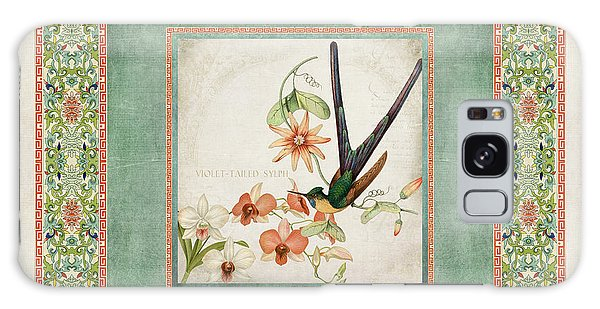Chinoiserie Vintage Hummingbirds N Flowers 3 Galaxy Case by Audrey Jeanne Roberts
