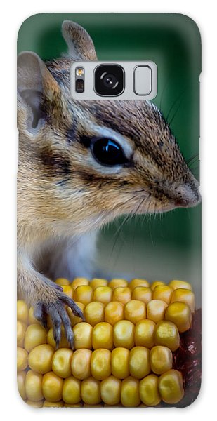 Chipmunk Goes Wild For Corn Galaxy Case
