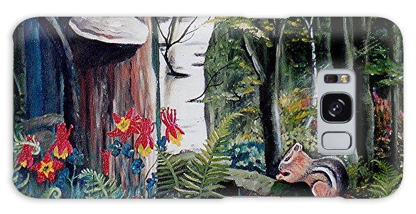 Chipmunk On A Log Galaxy Case by Renate Nadi Wesley