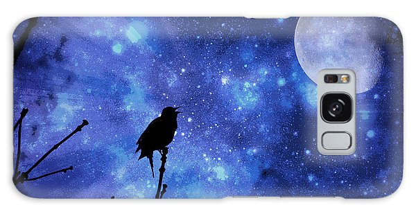 Chirping At The Moon  Galaxy Case by Lila Fisher-Wenzel