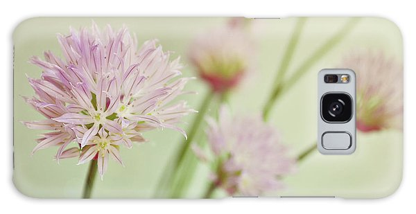 Chives In Flower Galaxy Case by Lyn Randle