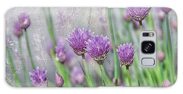 Chives In Texture Galaxy Case by Debra Baldwin