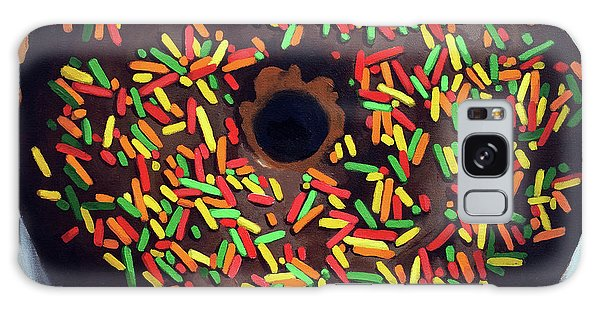 Chocolate Donut And Sprinkles Large Painting Galaxy Case