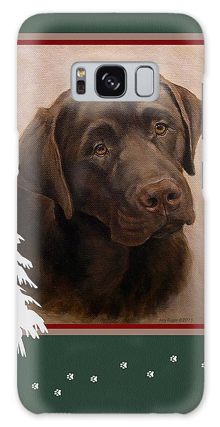 Chocolate Labrador Portrait Christmas Galaxy Case