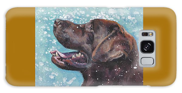 Chocolate Lab Galaxy Case - Chocolate Labrador Retriever by Lee Ann Shepard