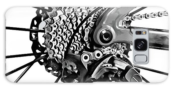 Galaxy Case featuring the digital art Choice Transport 2 Bw by Wendy J St Christopher