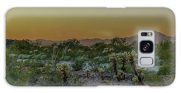 Cholla Desert Sunset Galaxy Case