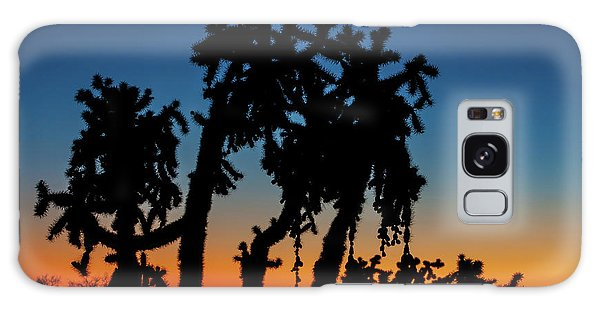 Galaxy Case featuring the photograph Cholla Silhouettes by Rick Furmanek