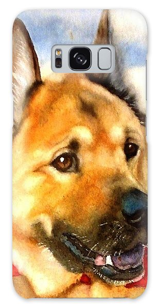 Chow Shepherd Mix Galaxy Case by Marilyn Jacobson