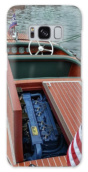 Motor Yacht Galaxy Case - Chris Craft With Open Hatch And Motor by Michelle Calkins
