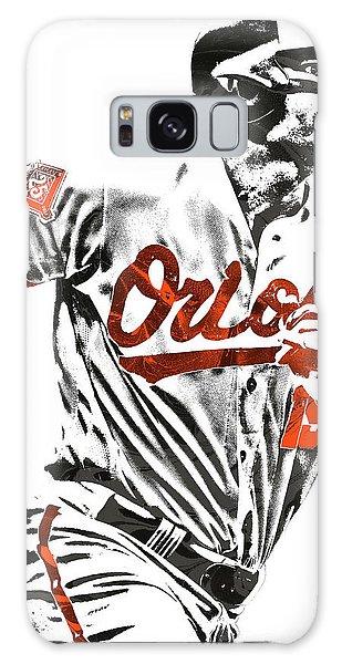 Chris Davis Baltimore Orioles Pixel Art Galaxy Case by Joe Hamilton
