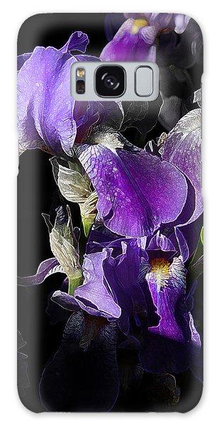 Chris' Garden - Purple Iris 1 Galaxy Case by Stuart Turnbull