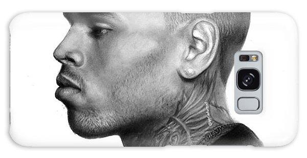 Galaxy Case - Chris Brown Drawing By Sofia Furniel by Jul V
