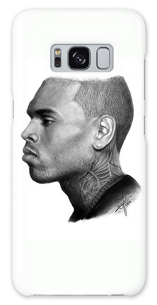 Galaxy Case - Chris Brown Drawing By Sofia Furniel by Jul V