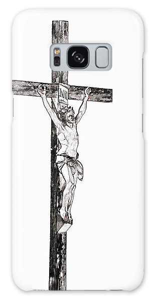 Christ On Cross Galaxy Case