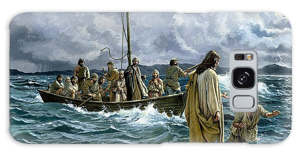 Storming Galaxy Case - Christ Walking On The Sea Of Galilee by Anonymous