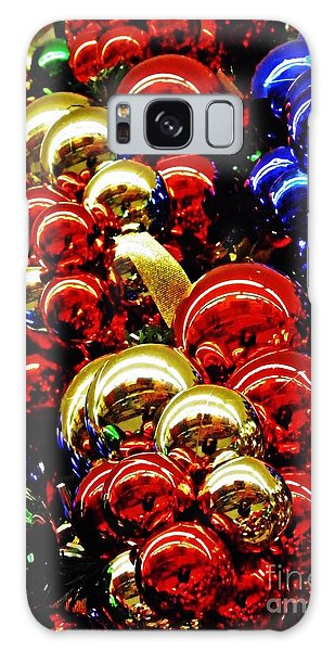 Christmas Abstract 14 Galaxy Case by Sarah Loft