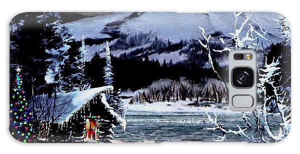 Christmas At The Lake V2 Galaxy Case