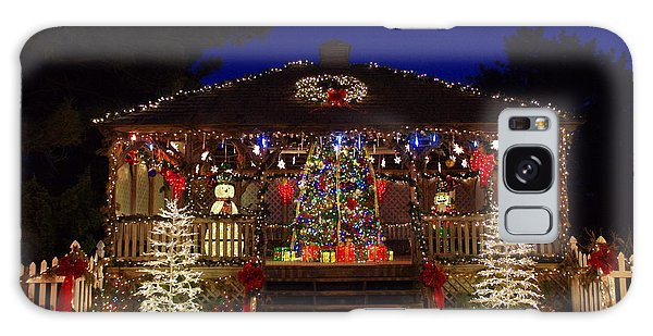 Christmas At The Lighthouse Gazebo Galaxy Case by Greg Graham
